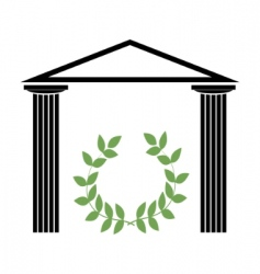 Greek temple with doric columns vector
