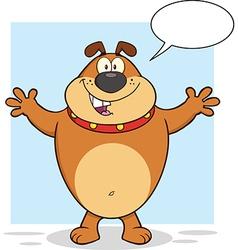 Happy cartoon dog vector