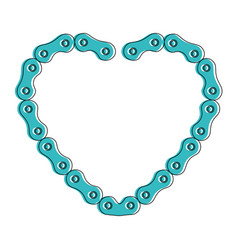 heart with chain bicycle vector image