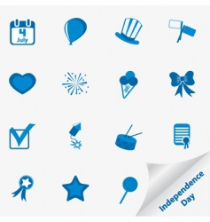 Independence day icons vector