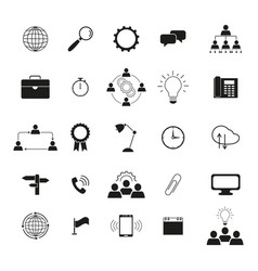 Information technology icons the set team work vector