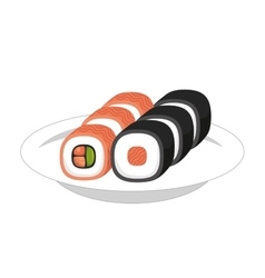 japan travel food sushi vector image