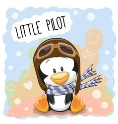 Little Penguin Pilot vector image