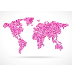 Mosaik pink world map vector