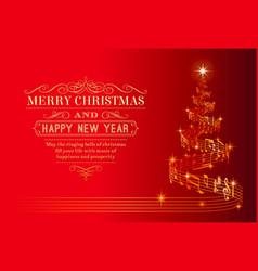 musical christmas tree vector image