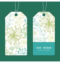 Mysterious green garden vertical stripe vector