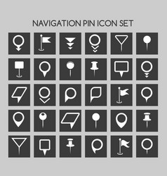 navigation pin icons map location marker and web vector image