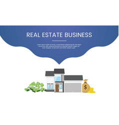 property business investment concept theme for vector image