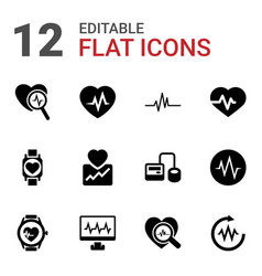 Pulse icons vector