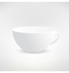 Realistic Isolated White Tea Cup vector