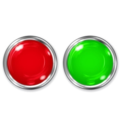 Red and green opaque button vector