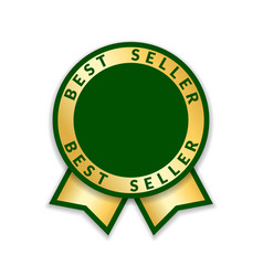 ribbon award best seller gold ribbon award icon vector image