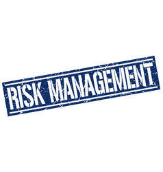 Risk management square grunge stamp vector