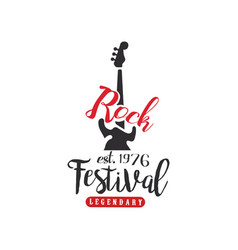 Rock festival logo est 1976 design element vector