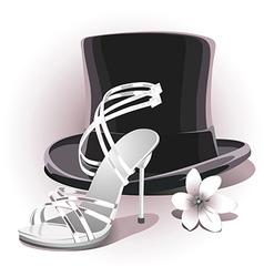 romantic white wedding shoe vector image