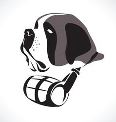 Saint bernard vector