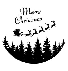 santa merry christmas vector image