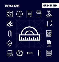 school icon line icon pack for designers and vector image