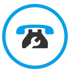 Service Phone Rounded Icon vector
