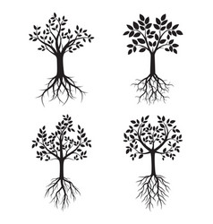 Set black trees with roots vector