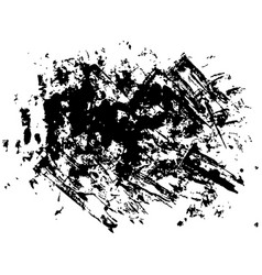 set of black paint dirty brush strokes vector image
