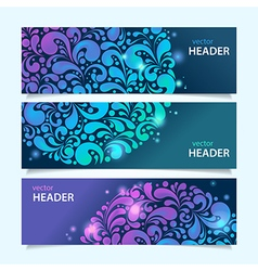shiny glowing banners vector image