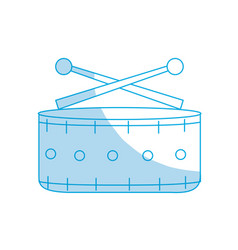 Silhouette snare drum musical instrument to play vector