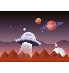 Space landscape vector