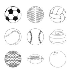 Sport and ball symbol set vector