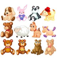 Stuffed animals vector
