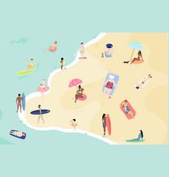 summertime cartoon people vector image