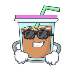 Super cool bubble tea character cartoon vector