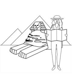 The sphinx giza design vector