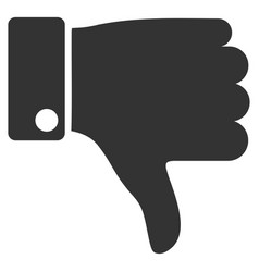 thumb down flat icon vector image