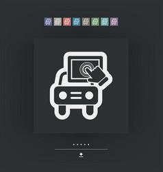 touchscreen car device vector image