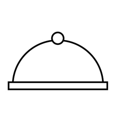 Tray server dish isolated icon vector