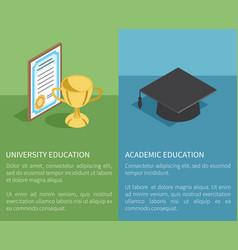 University academic education vector