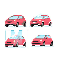 washing dirty car process vector image