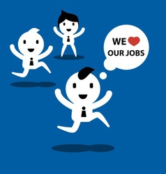 we love jobs vector image