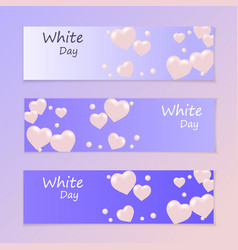 White day flyer or invitation air heart flying vector