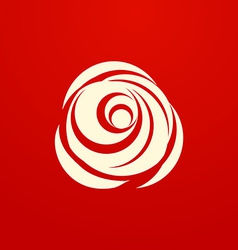 White rose on red background vector
