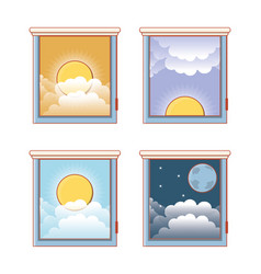 Windows with differents hours vector