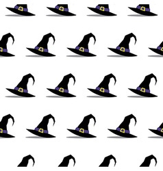 Witch Hat Halloween Seamless Pattern vector image