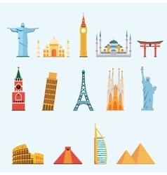 world famous travel landmarks vector image