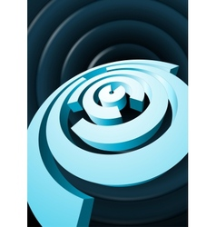 Abstract rotating circles with cut out sectors vector image