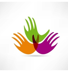 creative handshake icon vector image