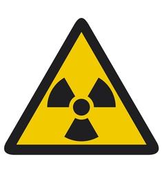 Nuclear warning symbol vector image vector image