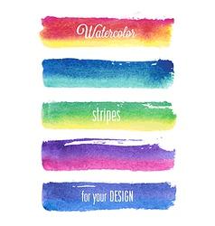 watercolor strokes vector image vector image