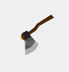 axe icon flat isolated sign symbol danger blade vector image