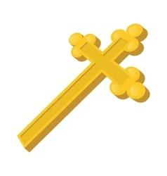 Christian cross cartoon icon vector image